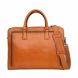 Banuce Womens Full Grains Leather Briefcase Messenger Satche