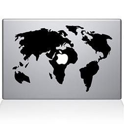 The Decal Guru World Map Macbook Decal Vinyl Sticker  - 12""