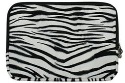 Zebra Animal Print Faux-fur Carrying Case Sleeve for Apple M